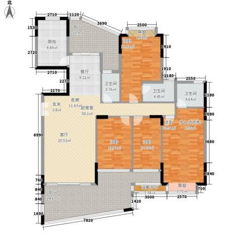 富逸臻园4室0厅3卫1厨196.00㎡户型图