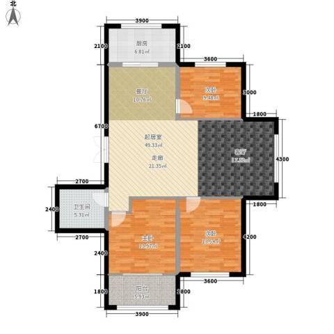万象国际3室0厅1卫1厨125.00㎡户型图