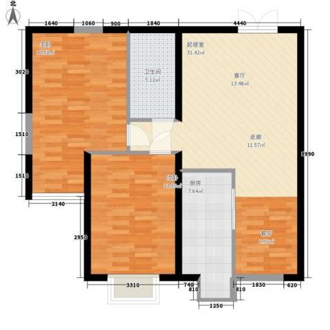 尚品国际2室0厅1卫1厨83.62㎡户型图