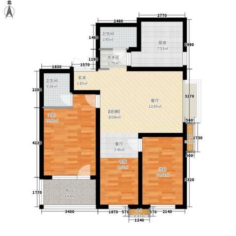 伟东君庭2室0厅2卫1厨105.00㎡户型图