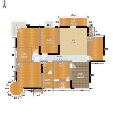 太白庭院3室0厅2卫1厨128.00㎡户型图