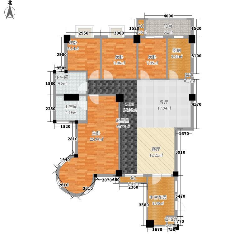 城市山水豪园153.62㎡3栋G1-1面积15362m户型