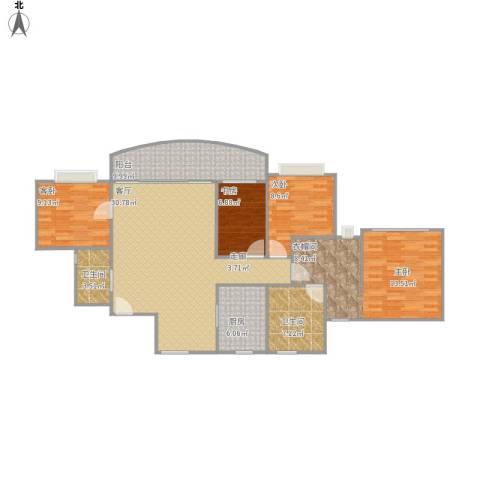 滨江新城市花园4室1厅2卫1厨145.00㎡户型图