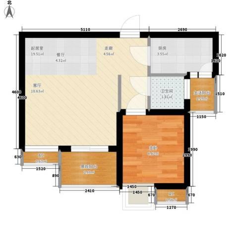 和坤和家园1室0厅1卫1厨39.00㎡户型图