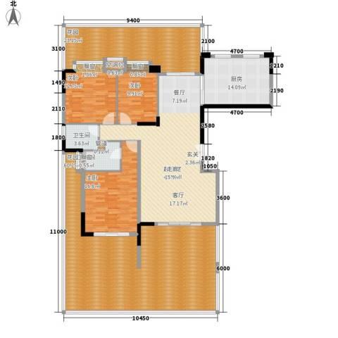 中仪花园3室0厅2卫1厨188.05㎡户型图