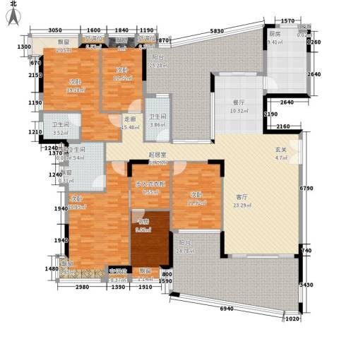 富逸臻园5室0厅3卫1厨231.00㎡户型图