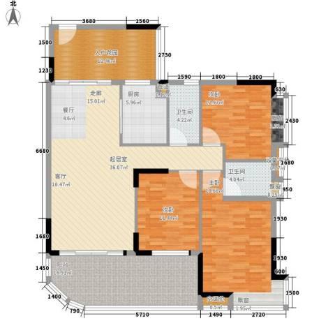 富逸臻园3室0厅2卫1厨139.00㎡户型图