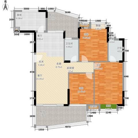 富逸臻园3室0厅2卫1厨138.00㎡户型图