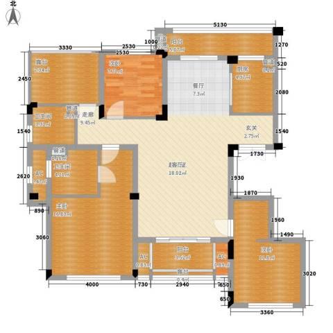 南昌莱蒙都会3室0厅2卫1厨126.00㎡户型图