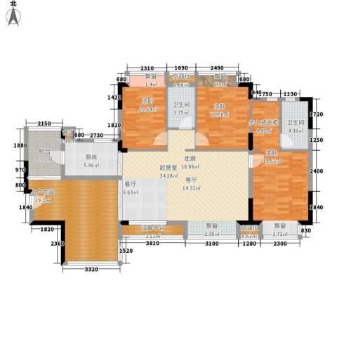 富逸臻园3室0厅2卫1厨135.00㎡户型图
