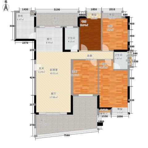 富逸臻园4室0厅2卫1厨160.00㎡户型图
