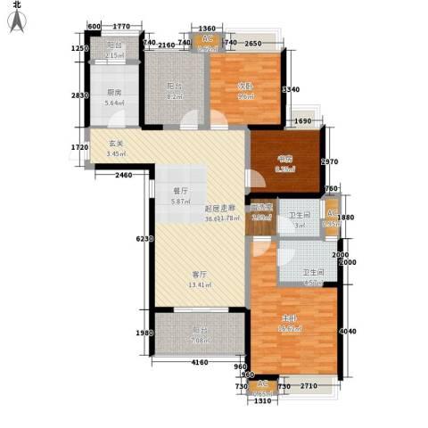鑫苑鑫城3室0厅2卫1厨119.00㎡户型图