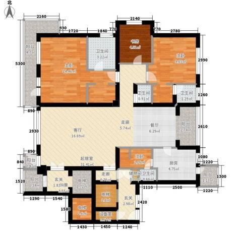 天灵小区4室0厅4卫1厨110.00㎡户型图