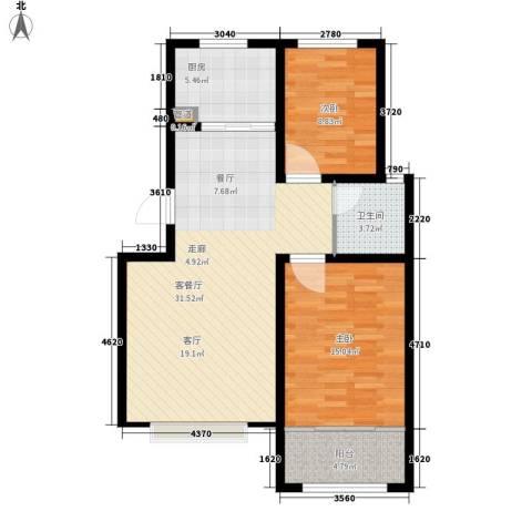欣雅小区2室1厅1卫1厨79.00㎡户型图