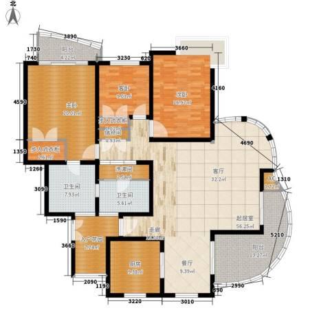 紫藤花苑3室0厅2卫1厨180.00㎡户型图