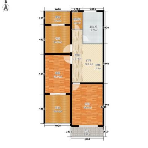 紫藤花苑3室0厅1卫0厨160.00㎡户型图