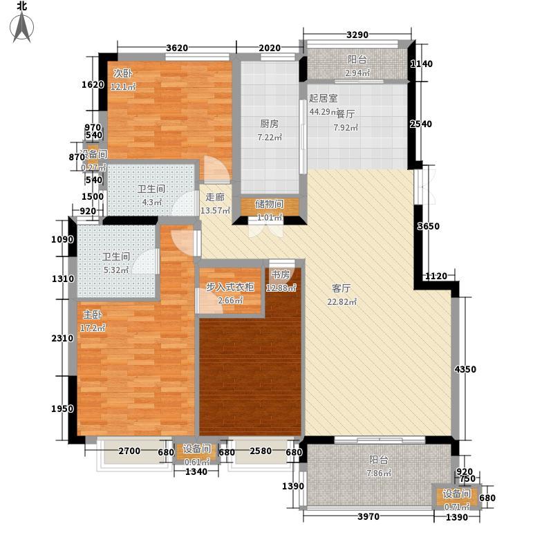 茂华国际湘138.80㎡3L-A2面积13880m户型