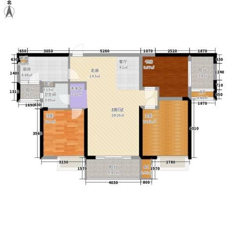 南昌莱蒙都会3室0厅1卫1厨101.00㎡户型图