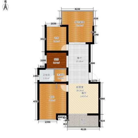 爱菊花园2室0厅1卫1厨92.00㎡户型图