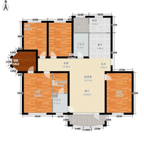 昌宇星河湾5室0厅2卫1厨168.00㎡户型图