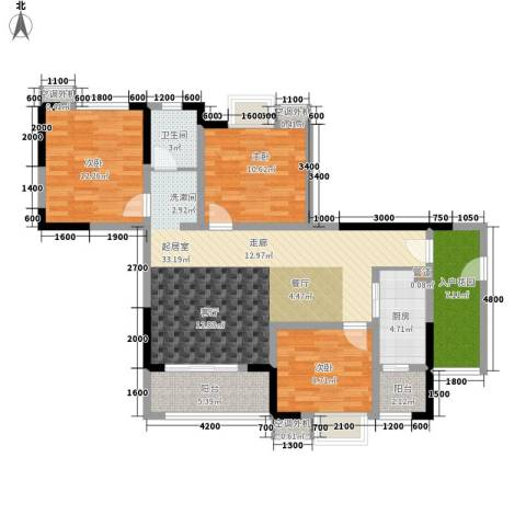 滨江翡翠城3室0厅1卫1厨90.00㎡户型图