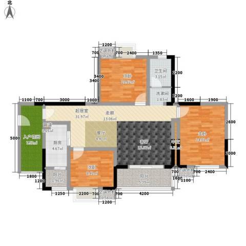 滨江翡翠城3室0厅1卫1厨90.06㎡户型图