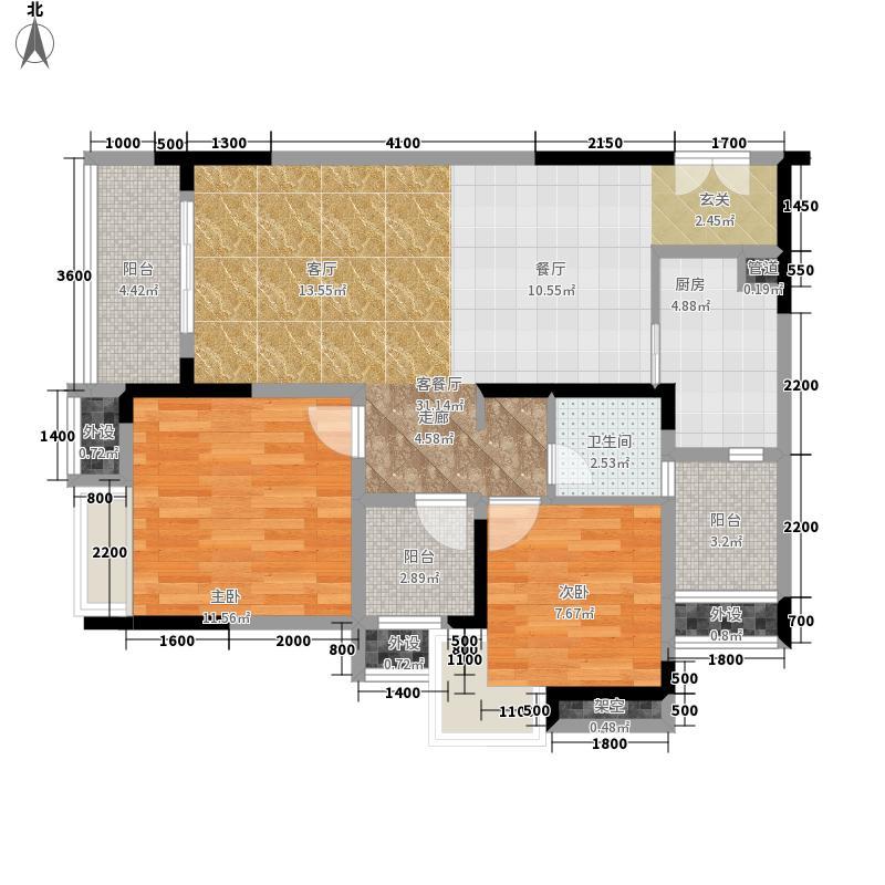 保利椰风半岛71.00㎡一期2-3号楼面积7100m户型