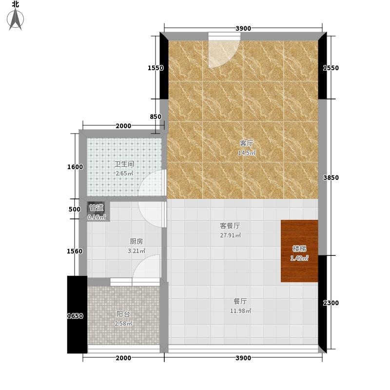 金城银樽A栋C入户层户型