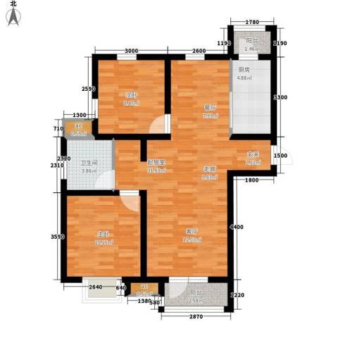京港国际城2室0厅1卫1厨88.00㎡户型图