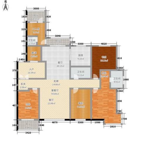 世家官邸4室1厅3卫1厨263.00㎡户型图