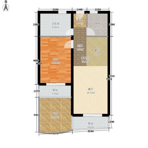 博鳌阳光海岸1室1厅1卫1厨79.00㎡户型图