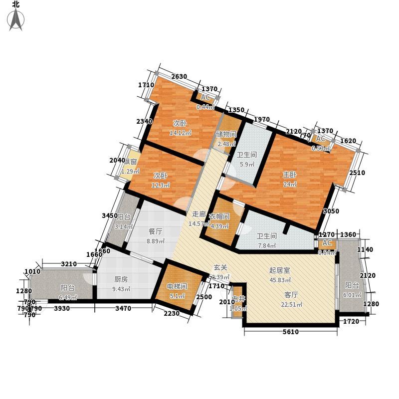 苏堤春晓173.39㎡上海名苑6号楼e户面积17339m户型