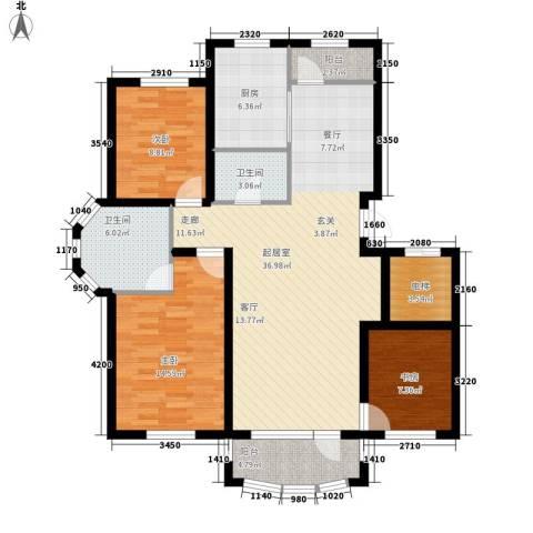 昌宇星河湾3室0厅2卫1厨123.00㎡户型图