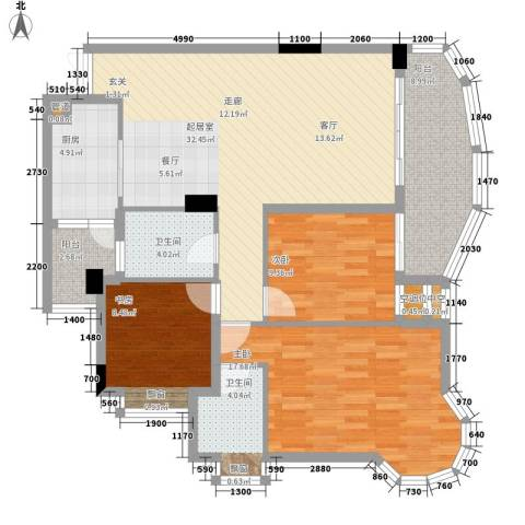 石油小区3室0厅2卫1厨93.34㎡户型图