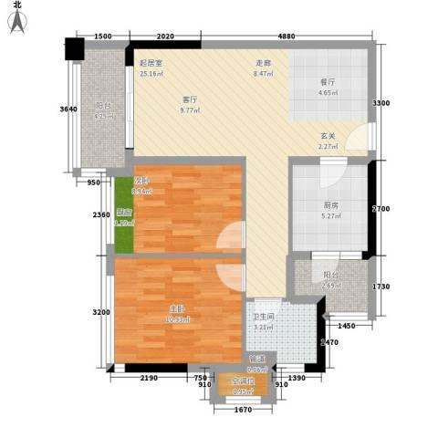美汇半岛2室0厅1卫1厨89.00㎡户型图