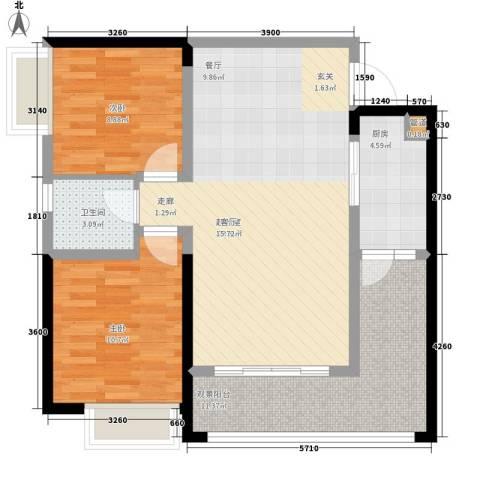 贝迪龙庭2室0厅1卫1厨67.31㎡户型图
