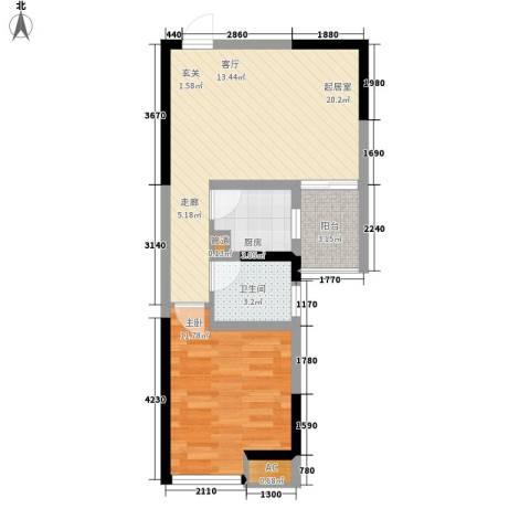 敬业大厦1室0厅1卫1厨49.00㎡户型图