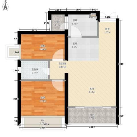 光华可乐小镇2室0厅1卫1厨65.00㎡户型图