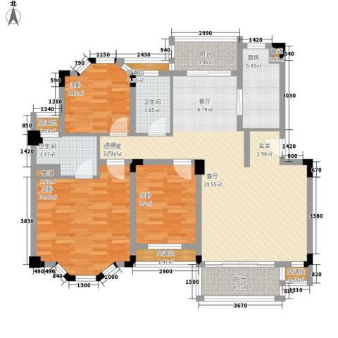 裕兴花园3室0厅2卫1厨139.00㎡户型图