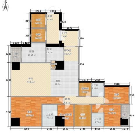融创玖玺台4室0厅3卫2厨205.00㎡户型图
