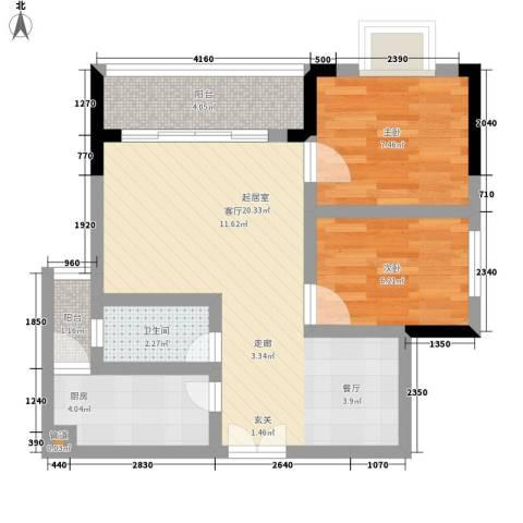 森望芳草绿岸2室0厅1卫1厨55.00㎡户型图