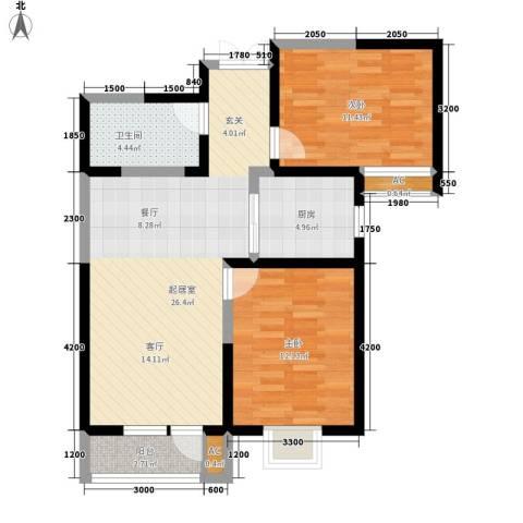 观锦2室0厅1卫1厨93.00㎡户型图
