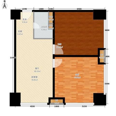 中国石家庄塔坛国际商贸城2室0厅1卫0厨165.00㎡户型图