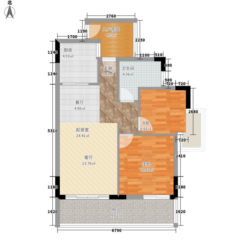 卧龙五洲世纪城A4户型91-92平方米户型