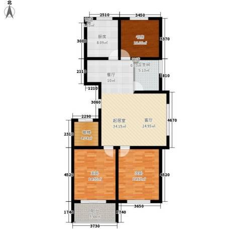 金马怡园3室0厅1卫1厨138.00㎡户型图