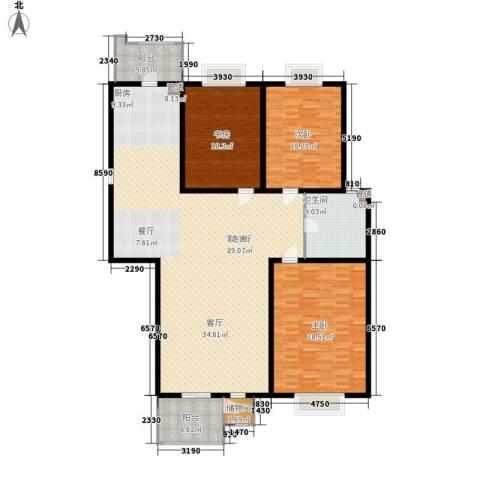 大观名园二期3室1厅1卫0厨185.00㎡户型图