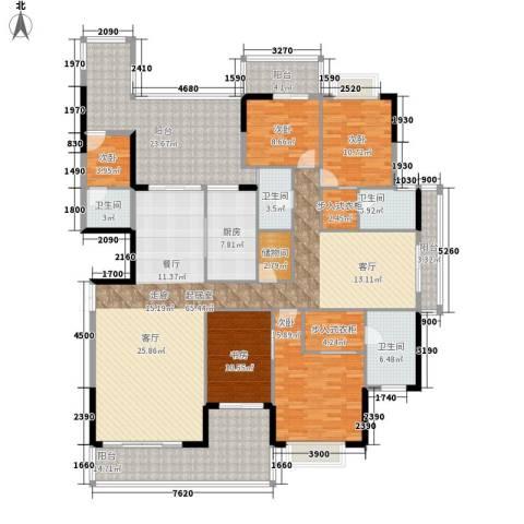 卧龙五洲世纪城5室0厅4卫1厨274.00㎡户型图