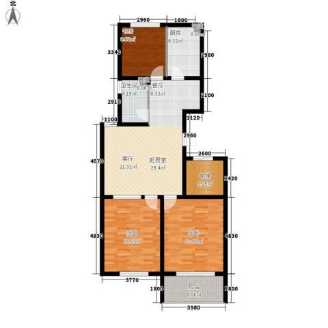 金马怡园3室0厅1卫1厨132.00㎡户型图