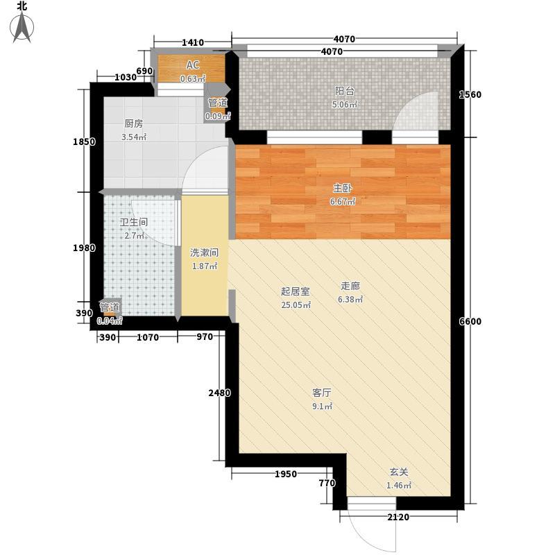 可乐公寓43.00㎡面积4300m户型