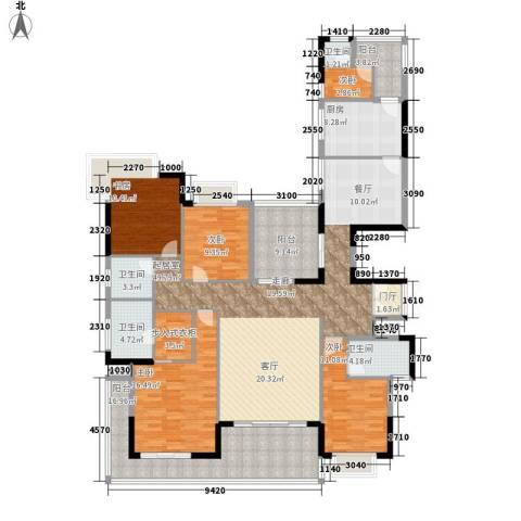 卧龙五洲世纪城5室0厅4卫1厨223.00㎡户型图